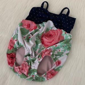FrouFrou & Co Bubble Bow Floral Swimsuit